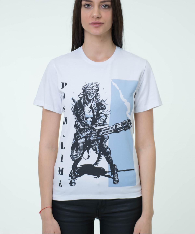 "T-shirt  ""Poshalim"" white2"