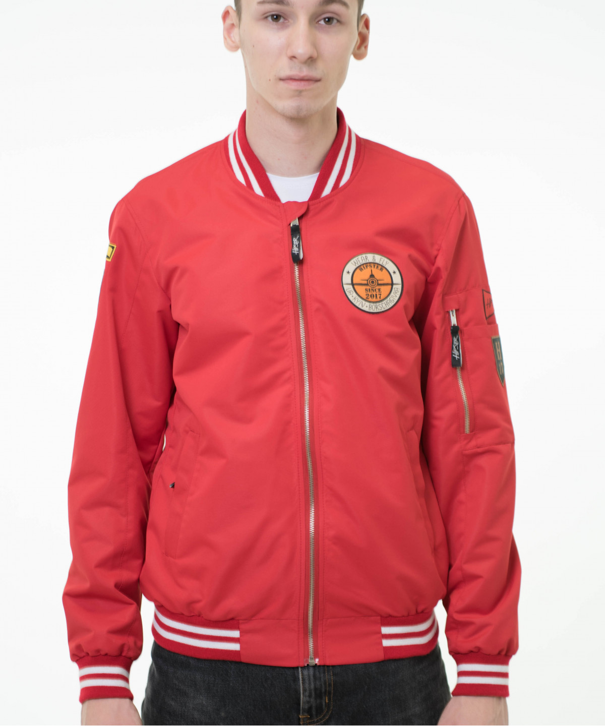 "Jacket ""Bomber"" red 1"