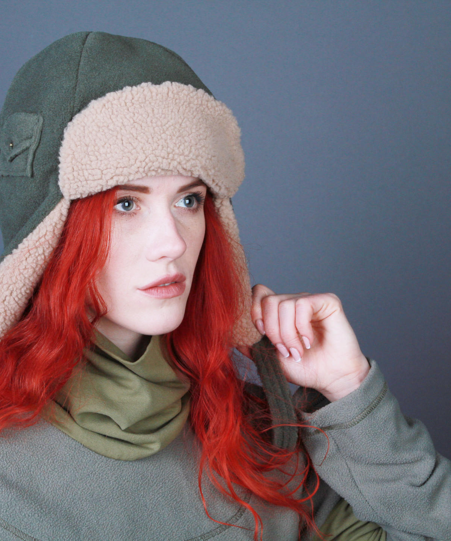 Cap - earflaps khaki